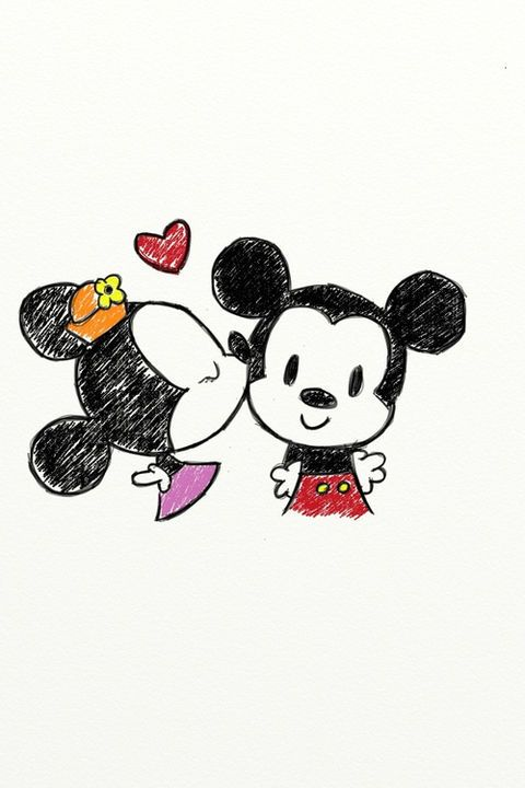 Untitled — mickey and minnie | Tumblr on We Heart It -...