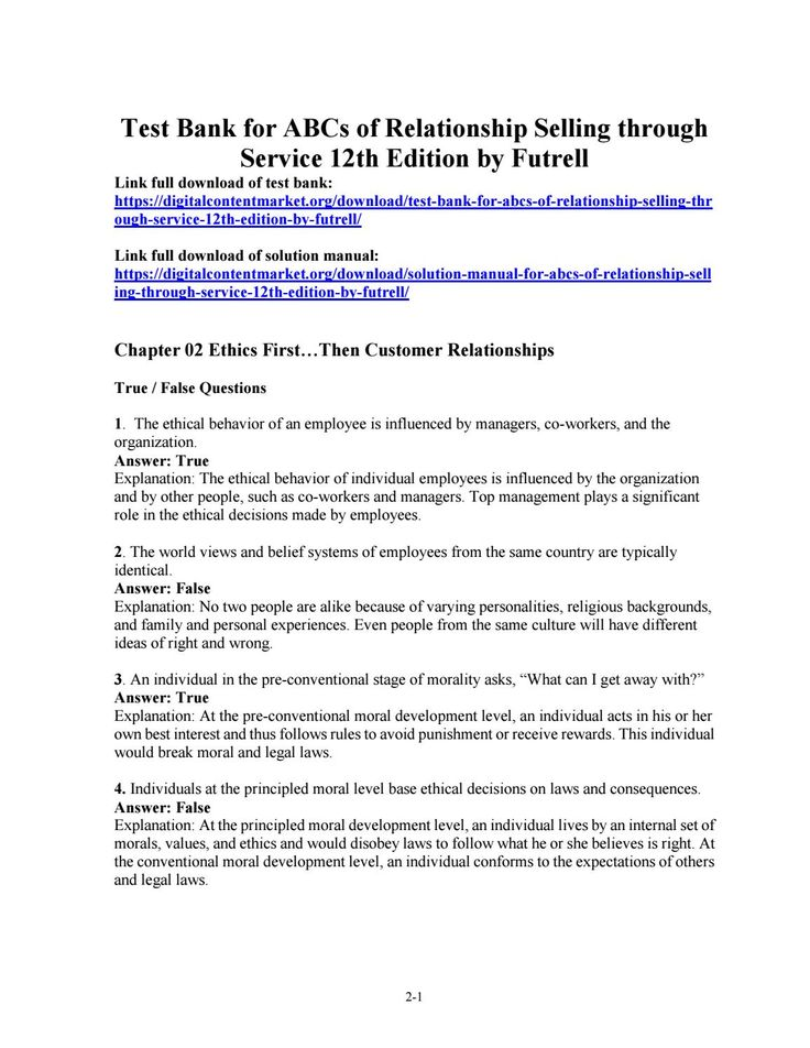 43 best test bank 2 images on pinterest download test bank for abcs of relationship selling through service 12th edition by futrell fandeluxe Gallery