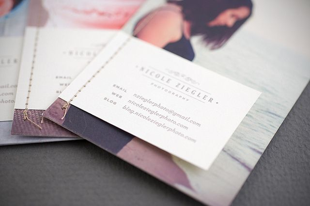 Photography promo cards by Nicole Ziegler