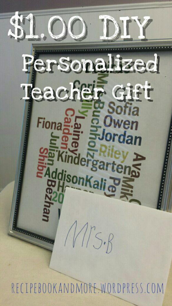 Teacher Appreciation Gifts From Class Teacher Appreciation Gift