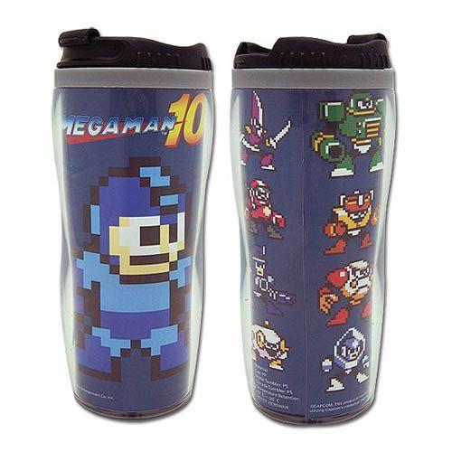 Mega Man 10 Mega Man and Bosses Blue Tumbler