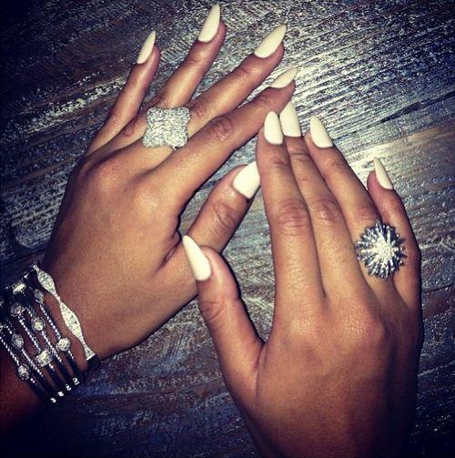 Long white nails inspiration