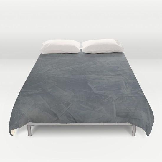Modern bedroom. Gray duvet cover. The Slate Gray Stucco Duvet Cover was designed with Venetian Plaster and features a subtle, elegant  variation of gray colors with a rich texture.  Grey duvet covers. Modern duvet covers.