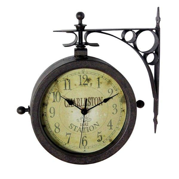 "Charleston 8"" Outdoor Clock & Thermometer"
