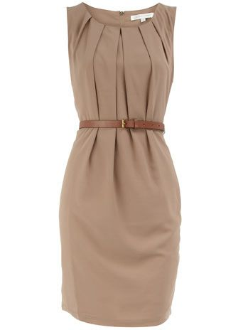 Stone belted dress. Love this with a lil black cardie, and I have just the shoes to go with it!