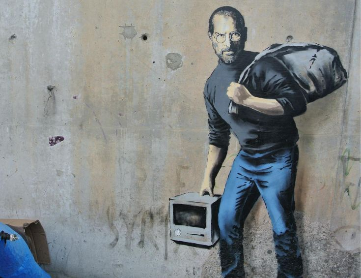 Banksy in Calais jungle: Steve Jobs graffiti reminds people Apple founder was son of Syrian migrants | News | Culture | The Independent