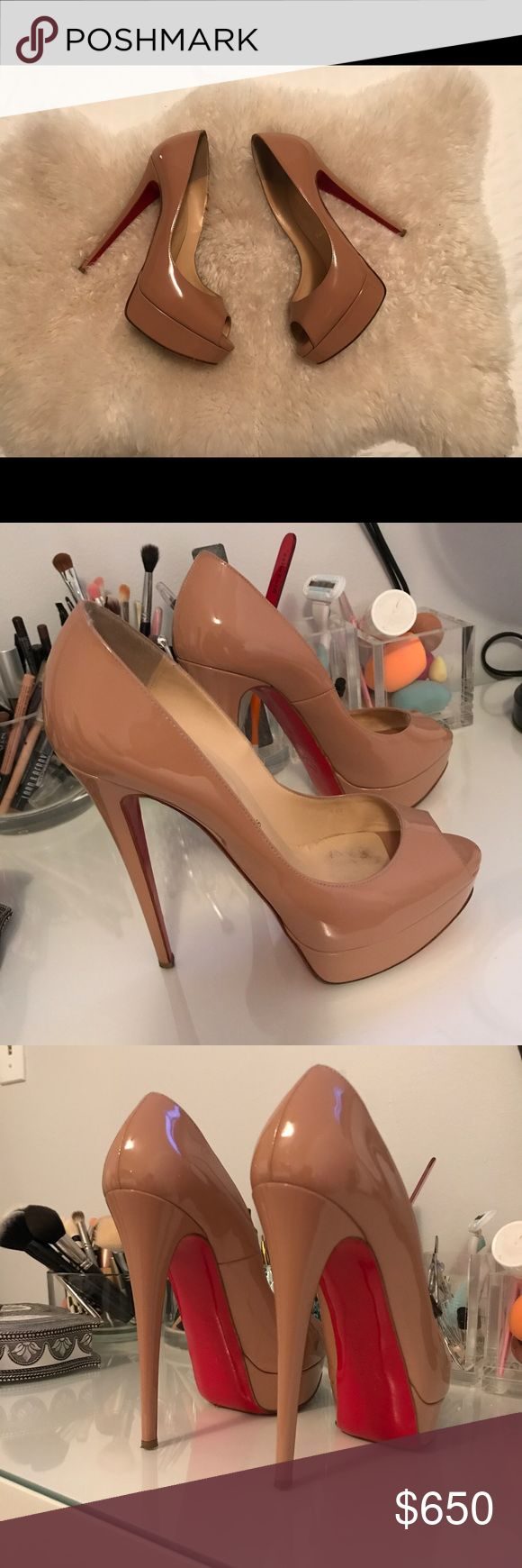 Christian Louboutin Lady Peeps Nude 39 These are always sold out! Always. All the items I have listed come directly from my closet and are 💯% authentic. I paid $1100 with tax for these at the Louboutin store in South Coast Plaza. Christian Louboutin Shoes