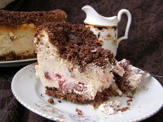 W Mojej Kuchni Lubię.. : sernik z wiśniami z kruszonkowym ciastem...