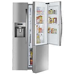 Kenmore Elite 51863 Counter-Depth Side-by-Side Refrigerator w/ Grab-N-Go™ - Stainless