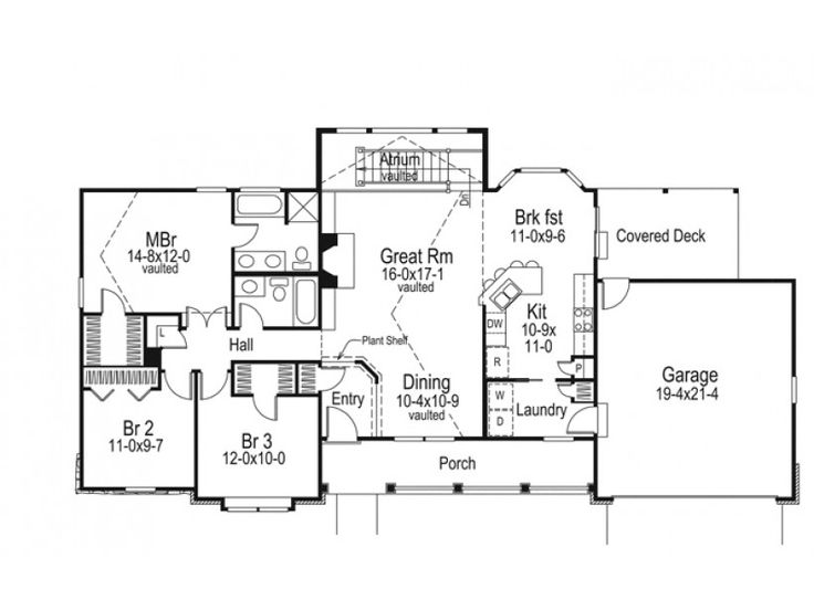 Eplans Country House Plan Country Ranch With Dramatic