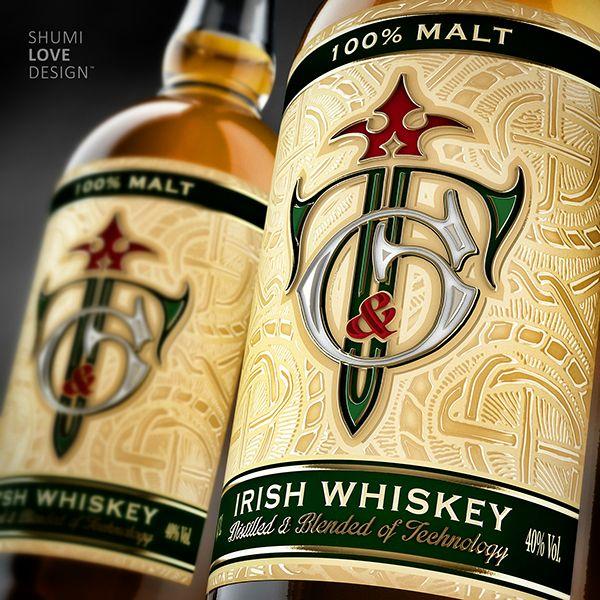"Irish whiskey ""T&G"" on Behance"