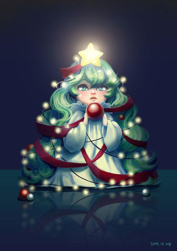 treegirl_20141212_크리스마스 습작