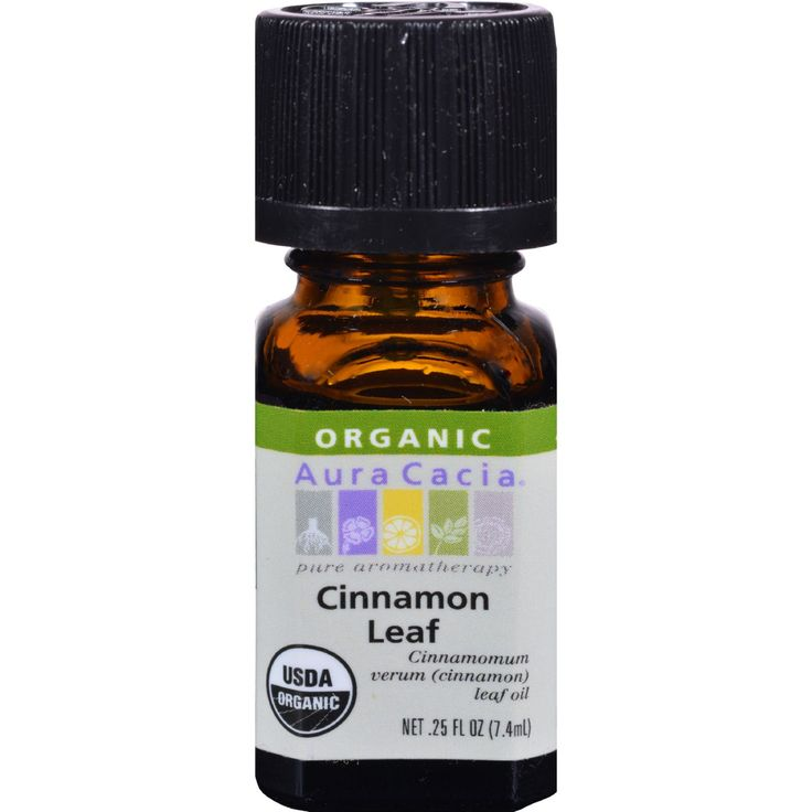 Aura Cacia Organic Cinnamon Leaf - .25 oz - Pure Aromatherapy USDA Organic Cinnamomum Verum (Cinnamon ) Leaf Oil Single Origin Certified Organic by QAI Tested and Verified for Purity Gas Chromatography/Mass Spectrometry Benefit: RevitalizingAroma: Spicy Middle NotePlant Part: Leaves, stemsSource: Sri Lanka Organic: 95%+ Organic Gluten Free: No Dairy Free: No Yeast Free: No Wheat Free: No Vegan: No Kosher: No GMO Free: NA Summer Melt Risk? No Country Origin: NA Dimensions: 0.94 in. L x 0.94…