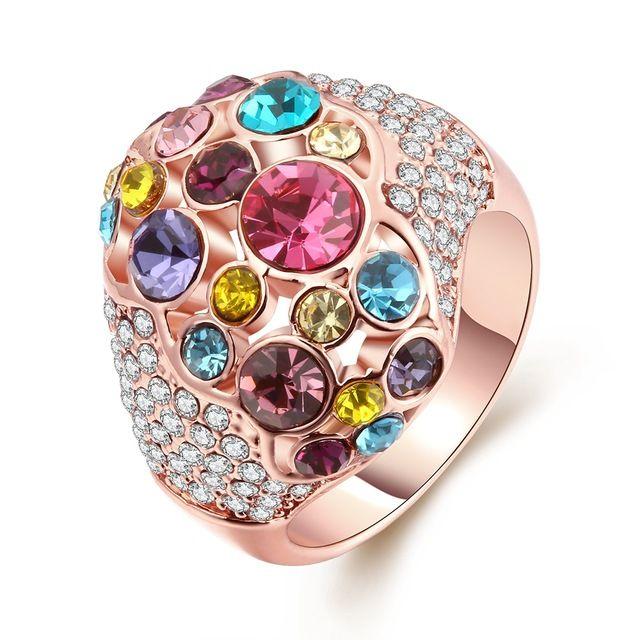 Свадебный Корона Кристалл Кольцо 18 К золотое кольцо для Уникальных Эксклюзивных Женщин для свадьбы обручальное завод прямые продажи