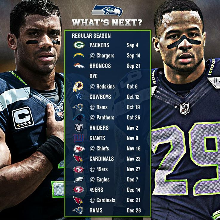Your official 2014 Seattle Seahawks schedule: