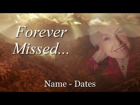 Memorial Template - complete slideshow presentation for your funeral or memorial - Memory Magic Proshow Slides & Templates