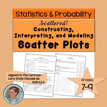 There are two scatter plot activities included.  First, students walk through and discover the steps to construct, interpret, and model scatter plots given an example with positive correlation.  Then, students apply what they discover to gather and organize data, write an equation for a trend line, and draw conclusions about the relationship in a scenario with negative correlation.Students will be able to construct and interpret scatter plots, draw an appropriate trend line and write its…