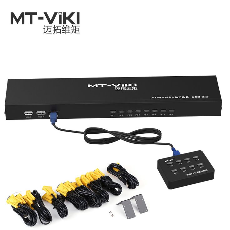 MT-VIKI 8 Port Smart KVM Switch Manual Key Press VGA USB Wired Remote Extension Switcher Console with Original Cable 801UK-L //Price: $142.82 & FREE Shipping //     #hashtag3