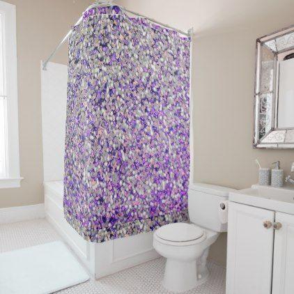 river rock lavender shower curtain bathroom idea ideas home living diy cyo bath