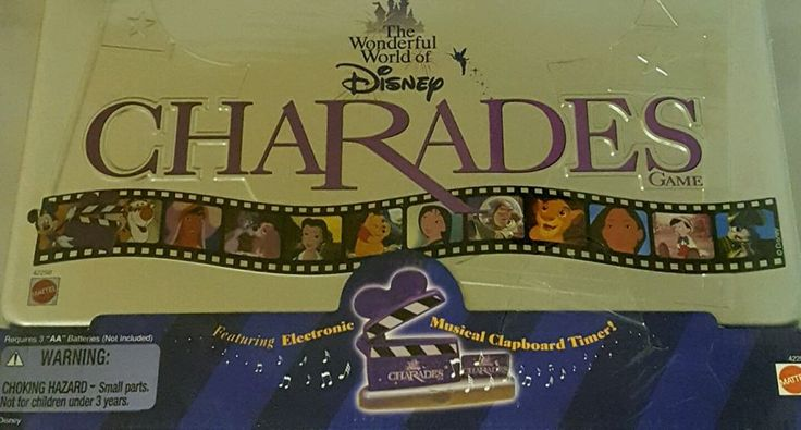 Wonderful World Disney Charades Family Game Collect Tin Mattel 1999 Age 4 Disney Musicals And