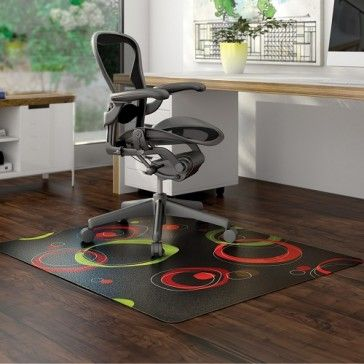 Liven up your office and have fun with color and contrasts as these chair mats protect your hardwood floors from damage, scuffs, stains and dirt from chair wheels, spills and foot traffic.