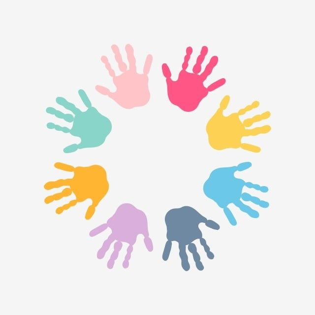 Spiral Of Colorful Hand Prints Made By Children Vector And Png In 2021 Prints Print Making Free Vector Art