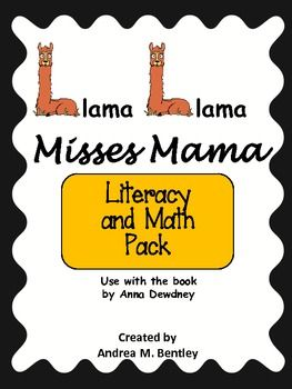 Little Llama misses his mama during his first day at school. He acts shy and feels alone at the beginning of the day, but after lunch he learns that school can be fun. He also learns that Mama does come back!   This literacy and math pack is designed to be used with the book Llama Llama Misses Mama by Anna Dewdney. Included in the pack: Reading Comprehension, Order of Events, Patterns, My School Portrait, Counting Llama's School Friends, What's Missing?, Make a Pair, and Animal Name Match…