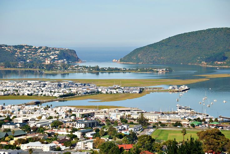 A view of Knysna and the lagoon and the Heads, South Africa.