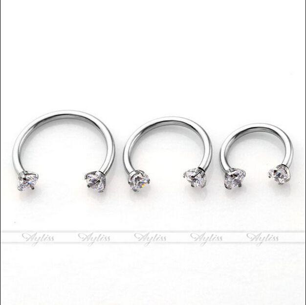 Piercing Septo Nose Lip Eyebrow Ear Septum Cartilage Helix Captive Hoop Ring Percing Labret Nariz Aro Nez 16g 316 Steel 8-12mm