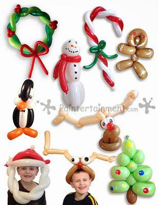 Múltiples ideas para hacer con globos en Navidad.