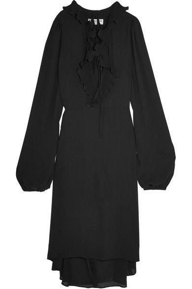 Balenciaga - Ruffled Georgette Dress - Black - FR38