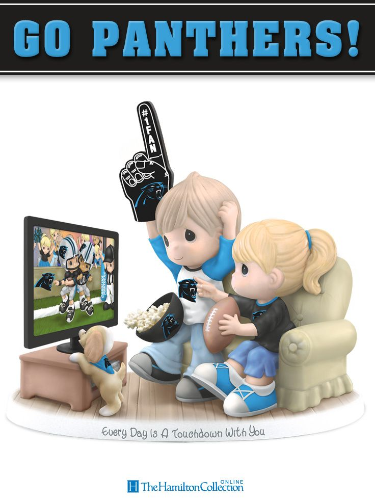 Let out a victorious roar for your favorite team, the Carolina Panthers, with this charming collectible Precious Moments Figurine!