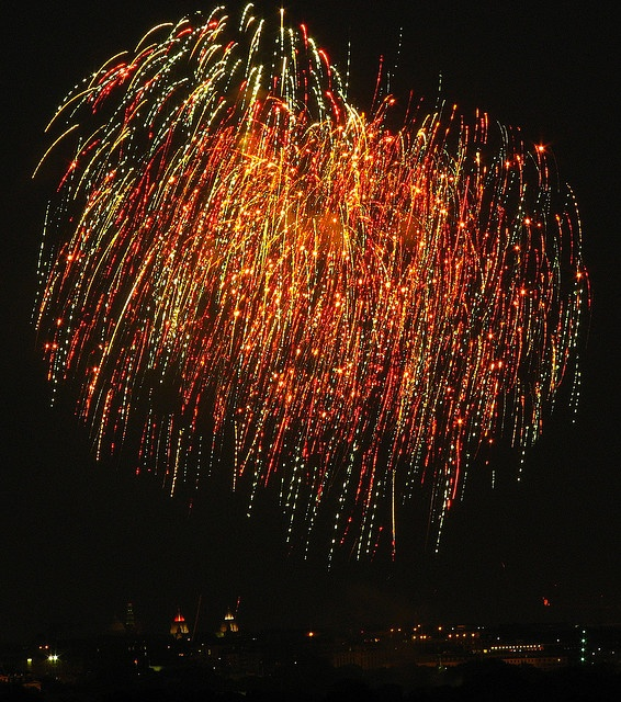 Sparkly fire works!