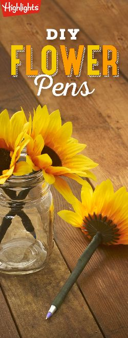 DIY Flower Pens | Highlights.com