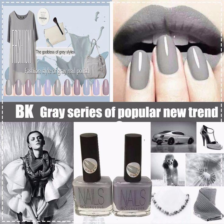 15 мл, 13 цветов, Быстро сухие BK марка серый лак для ногтей серый серии vernis лак исчезают гвозди искусство купить на AliExpress