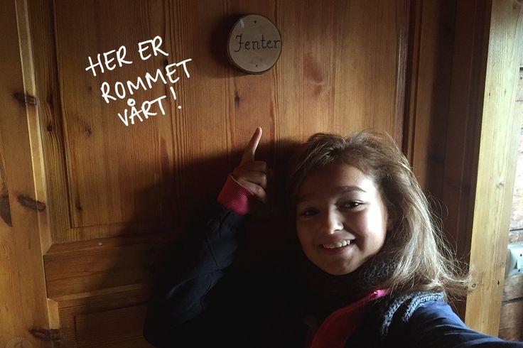 Her bor Ylva, Ingrid, Klara og jeg!