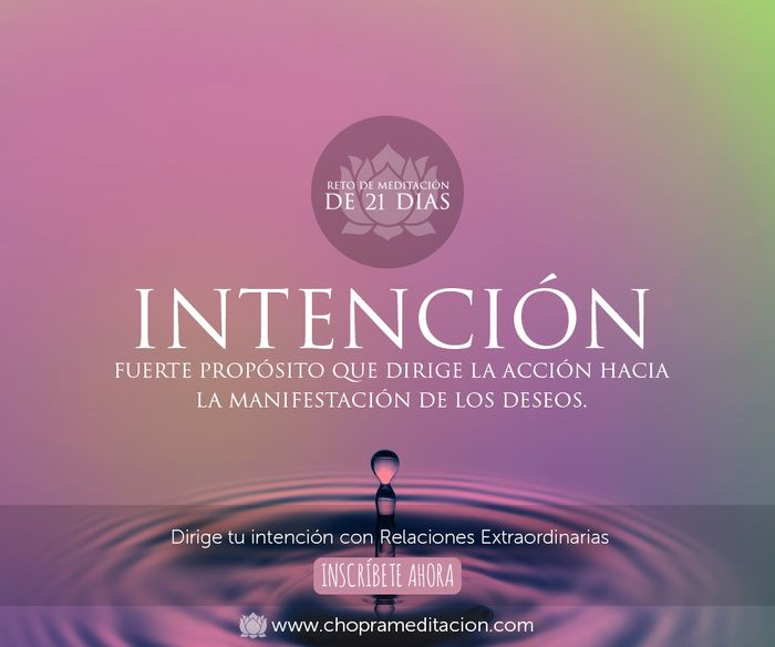 La intención es una herramienta poderosa para manifestar tus deseos más profundos.