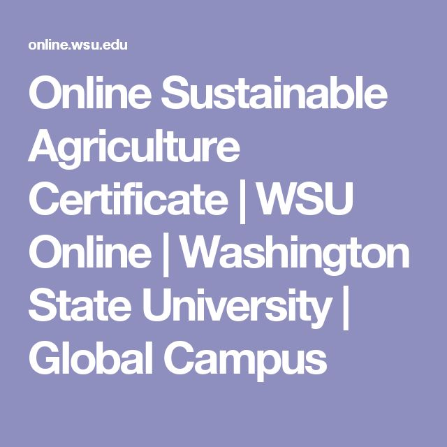 Online Sustainable Agriculture Certificate | WSU Online | Washington State University | Global Campus