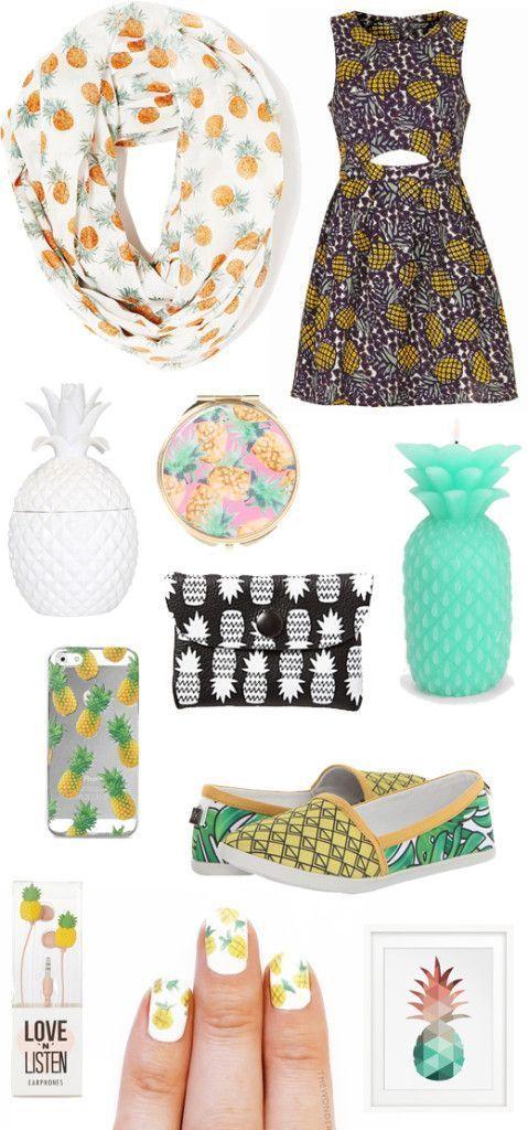 Cute fruit summer trend: Pineapple Print!