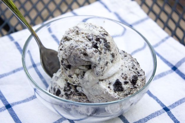 Cookies n Cream ice cream. Made this today in my Cuisinart ice cream maker and it was delicious. Easy recipe and came out great.