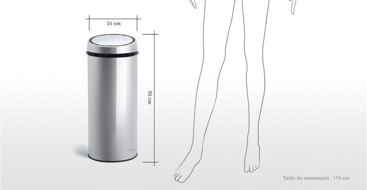 Sensé Bin, une poubelle automatique 30L en inox   made.com