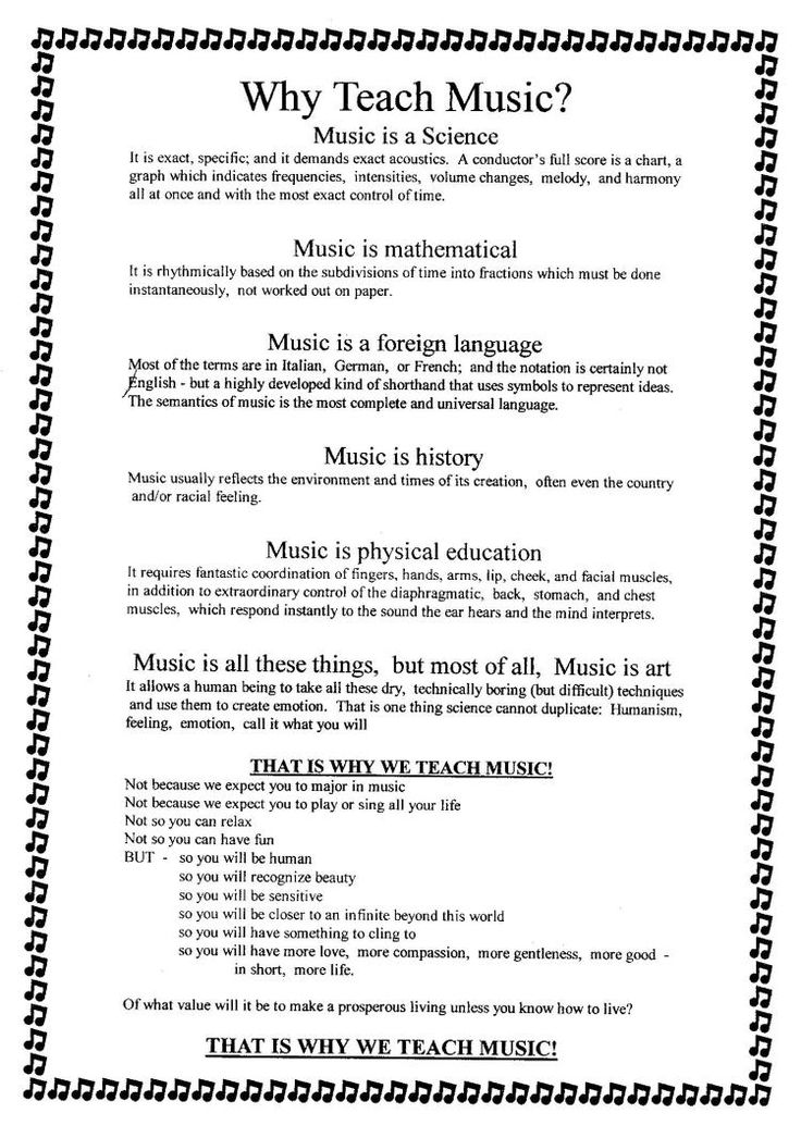 Why Teach Music? (from a NAfME Advocacy board)- also has a great statement at the top of the page it links to.