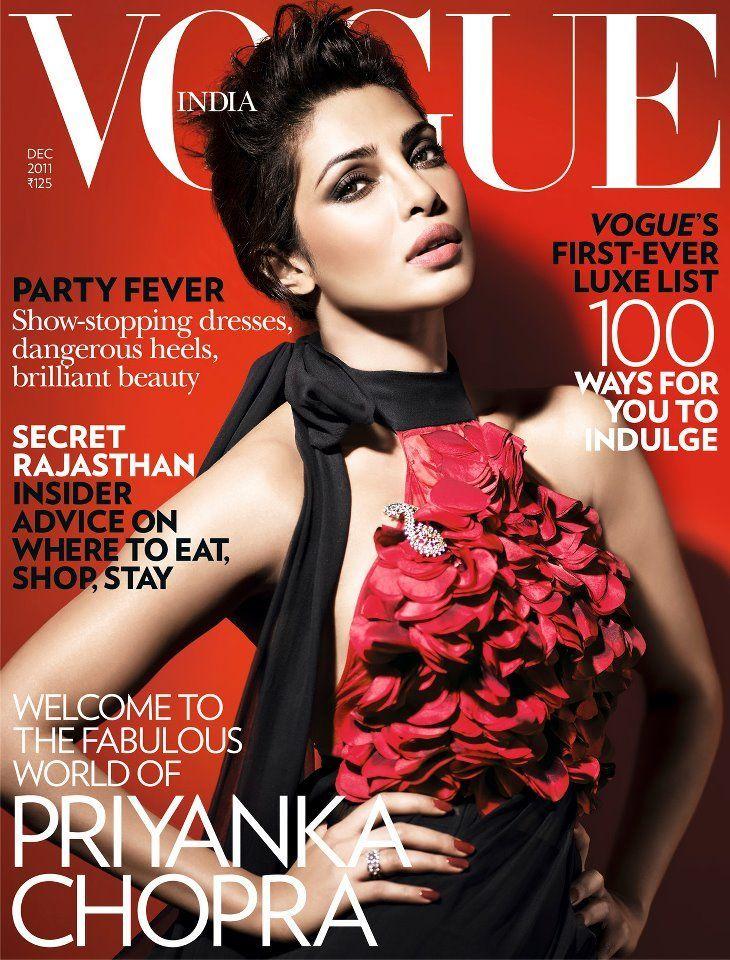 Hot: Priyanka Chopra on Vogue India Cover www.indicine.com-730 × 960-Pesquisar por imagens Priyanka Chopra on the cover of Vogue India December 2011