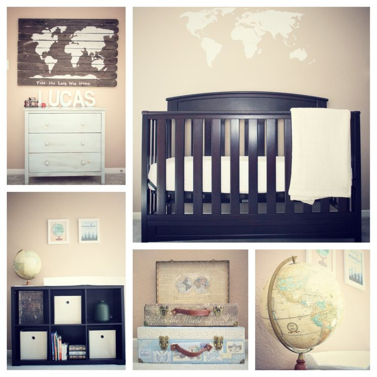 Re-Pinteresting: The Nursery  Vintage World Traveler Explorer Nursery #annsemonhome