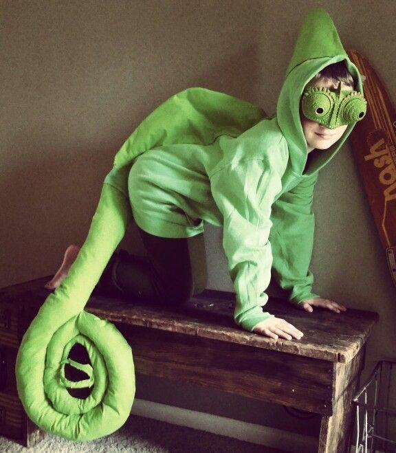 Chameleon costume success