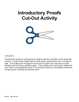 Introductory Geometry Proofs Cut Up Activity