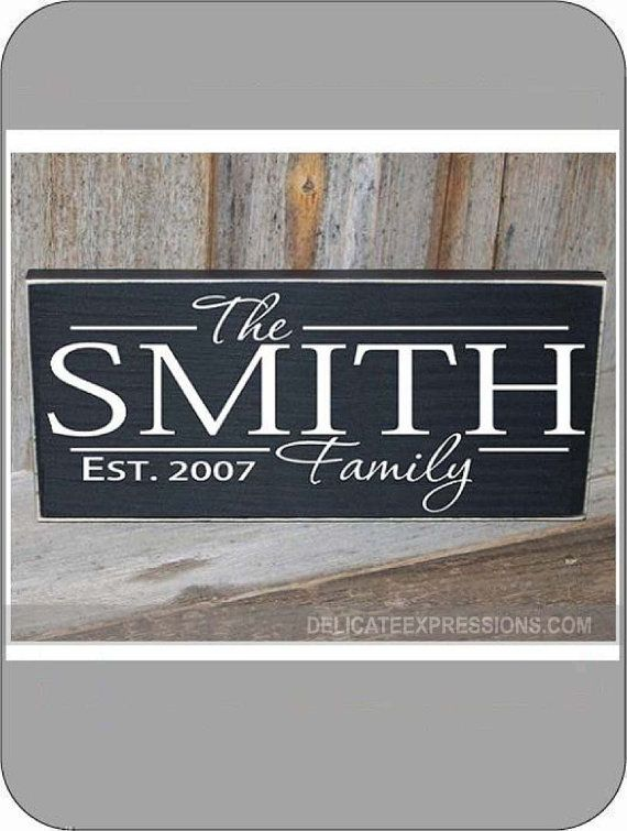 Family Established Wall Decal Personalized Wall Decal Family Name - Custom vinyl decals for wood
