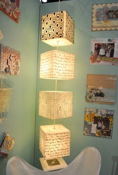 washi tape lamp