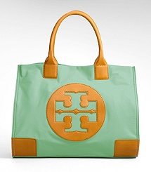 oh mint. you are so beautiful on a tory burch purse.