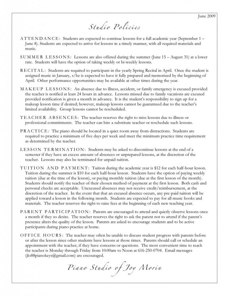 26 best Piano policy \ rules images on Pinterest Music ed, Music - piano teacher resume